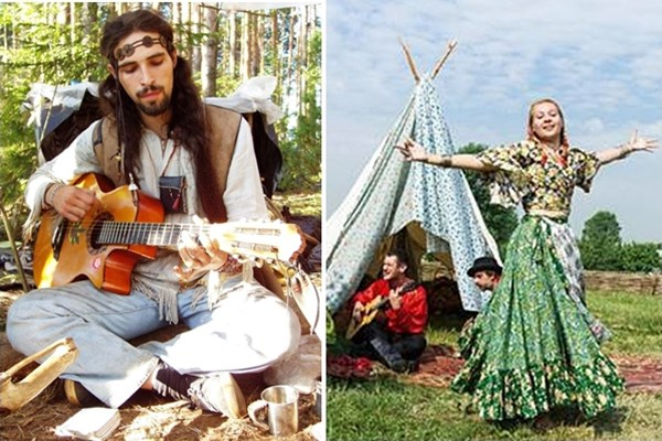 hippie e cigana