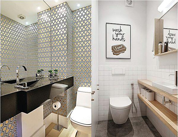 lavabos estreitos e pequenos