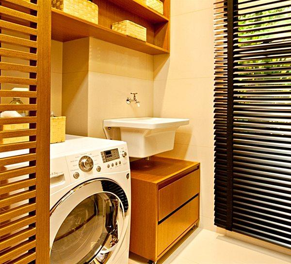 lavanderia pequena área de serviço