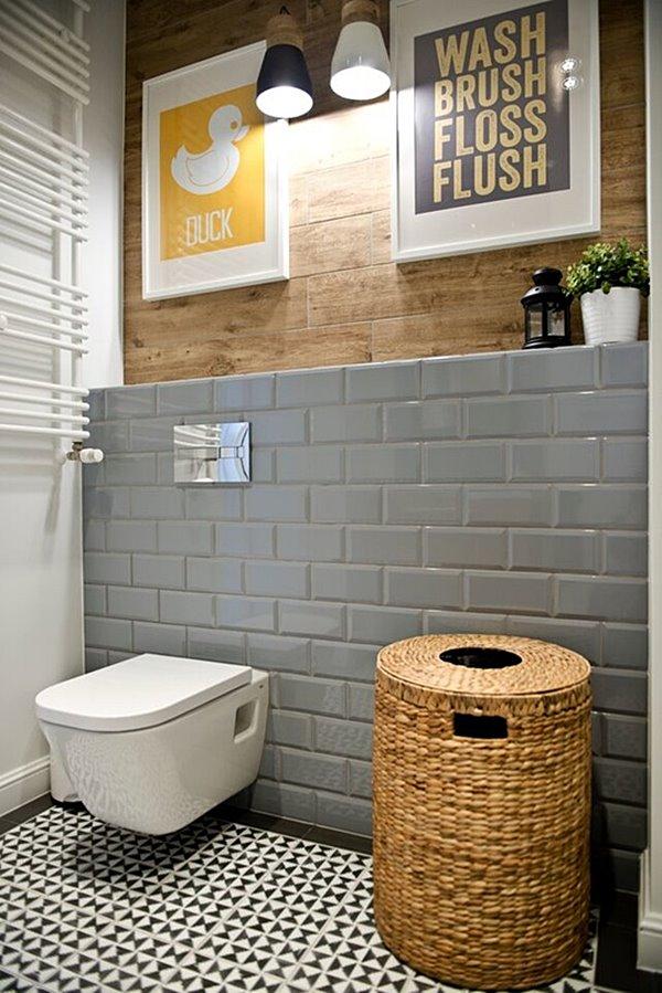 banheiro cinza e bege