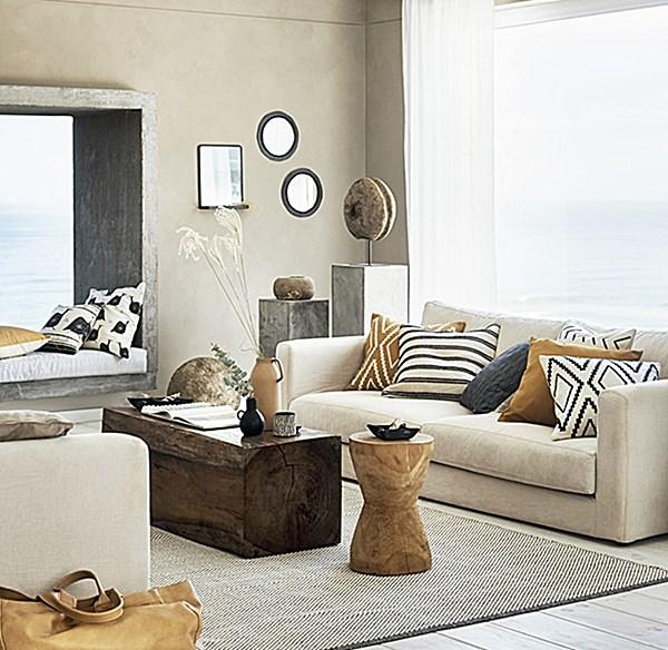 sala de estar combinação de cores