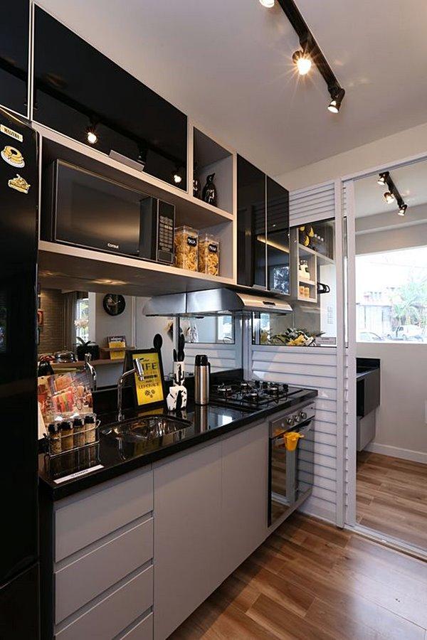 Detalhes de cozinhas inspiradoras cozinha cinza e preto