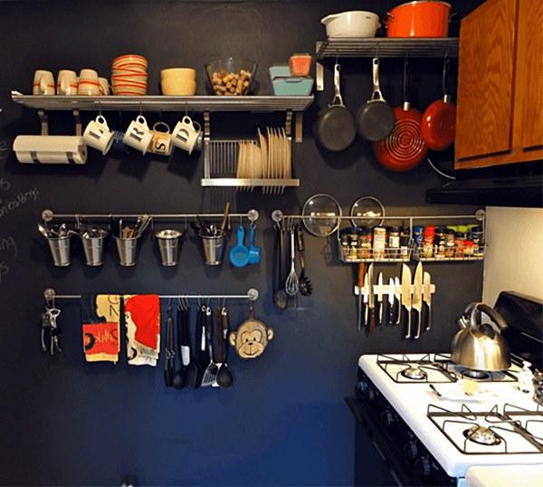 Detalhes de cozinhas inspiradoras  cozinha com prateleiras