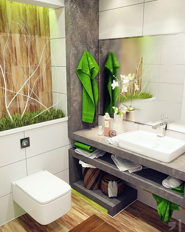 arquitetandoideias Green-white-nature-design-bathroom-665x886