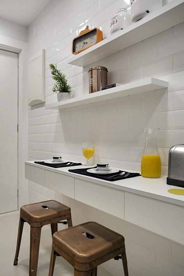 cantinho para refeição na cozinha pequena 3