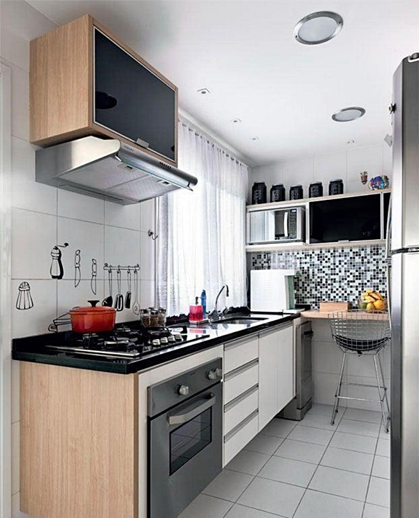 cantinho para refeição na cozinha pequena 10