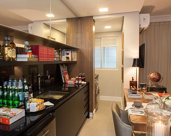 cantinho para refeição na cozinha pequena 11