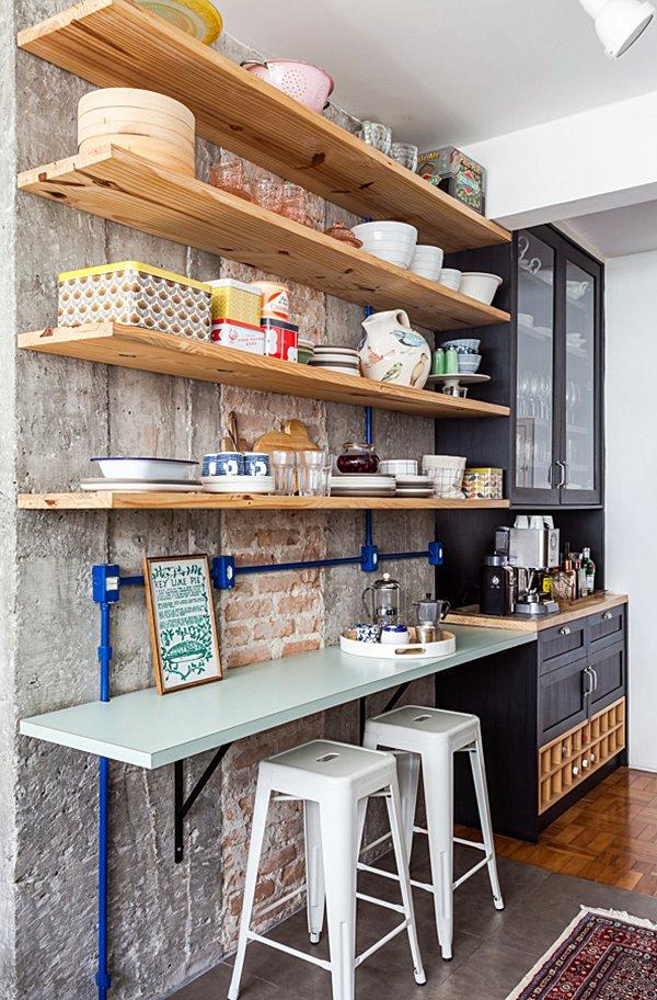 cantinho para refeição na cozinha pequena 13