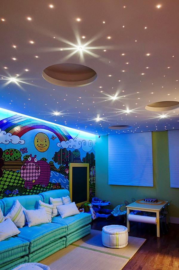 quarto infantil céu no teto
