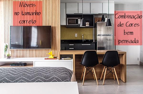 apartamento pequeno integrado 14