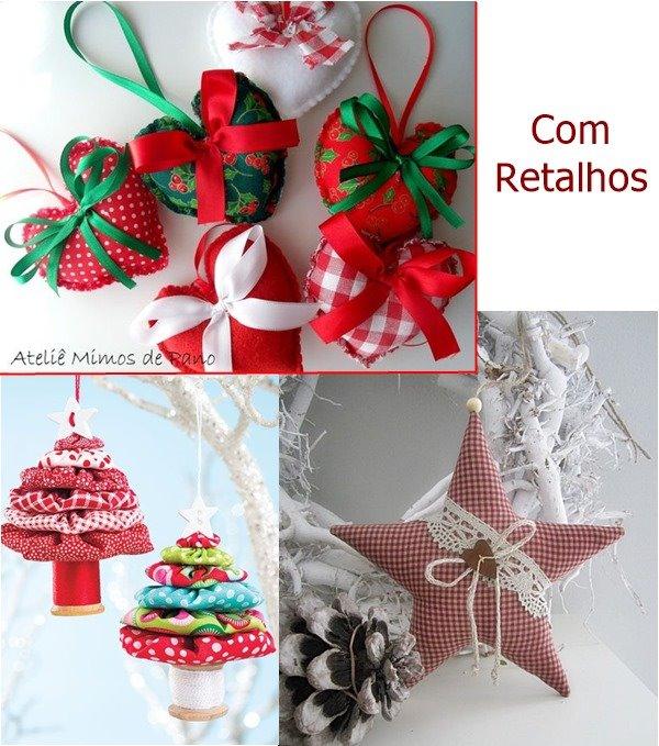 decoração arvore natal com retalhos 3