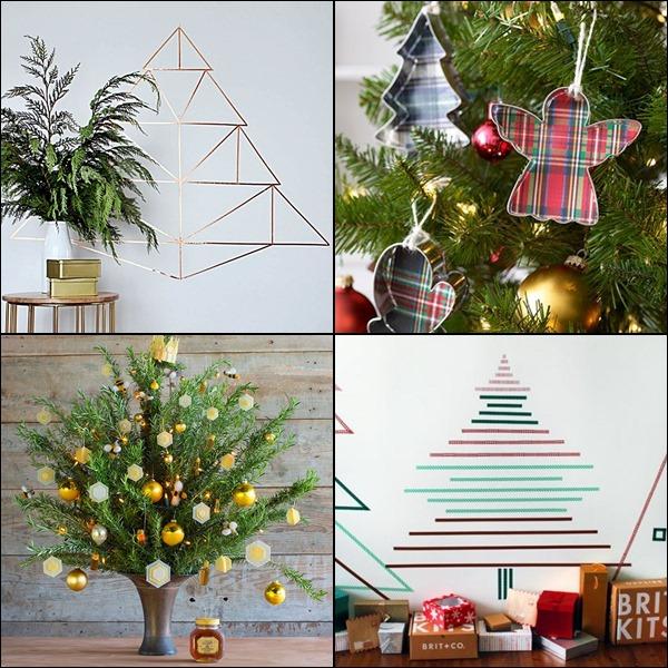 árvores de natal e enfeites