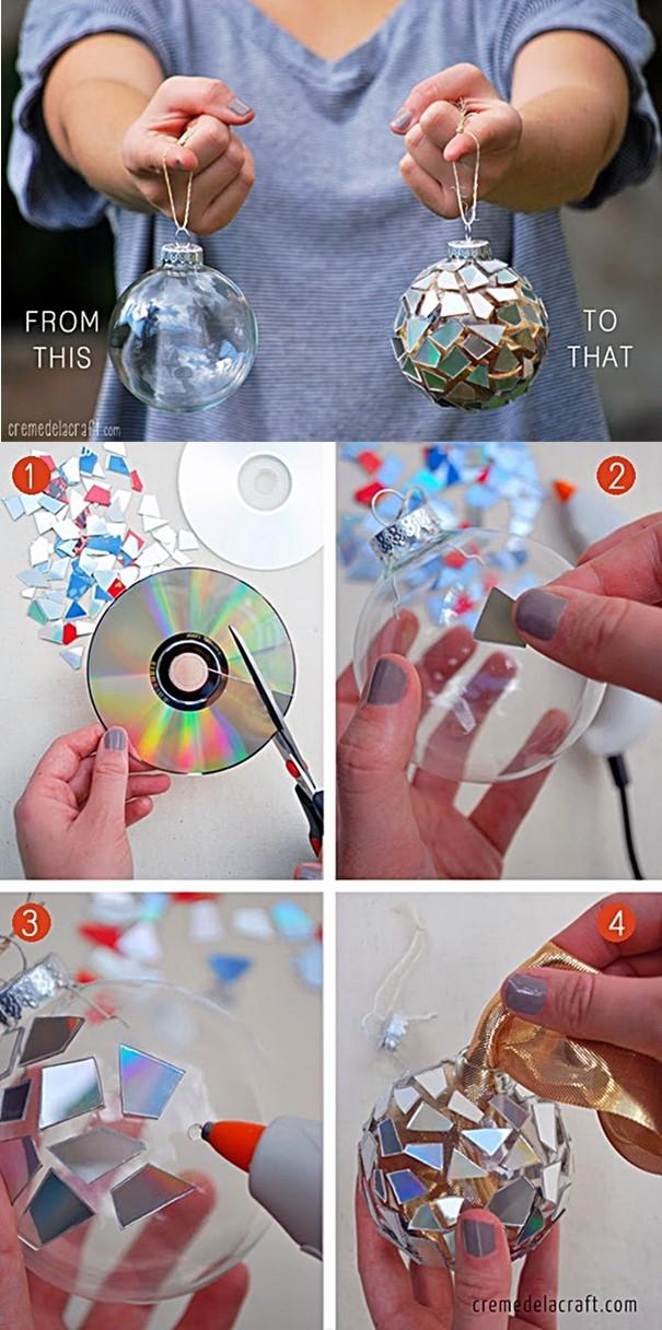 bola de arvore de natal customizada com cd