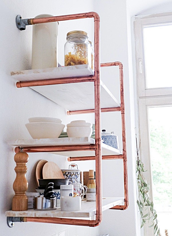 homedit DIY-copper-bathroom-shelves