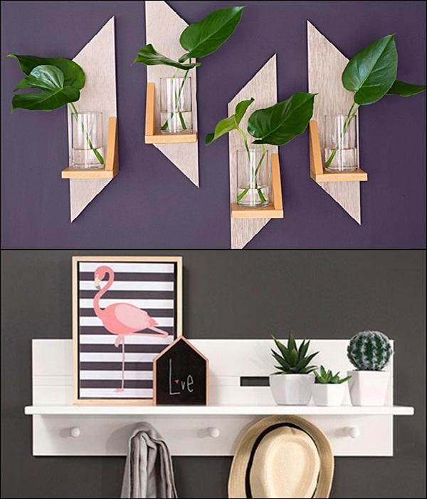 pequenas estantes prateleiras e nichos 14