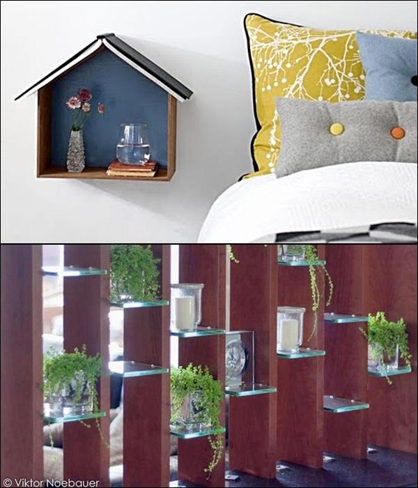 pequenas estantes prateleiras e nichos 15