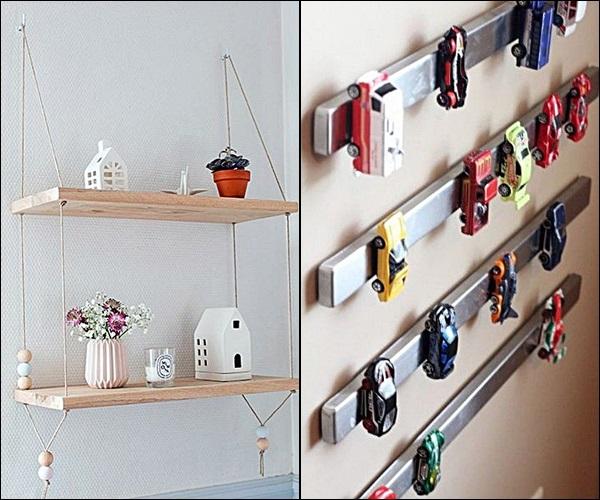 pequenas estantes prateleiras e nichos 5