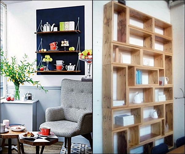 pequenas estantes prateleiras e nichos 6