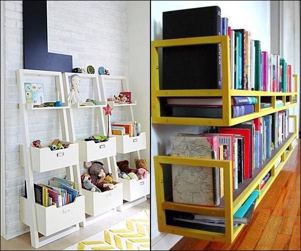 pequenas estantes prateleiras e nichos 8