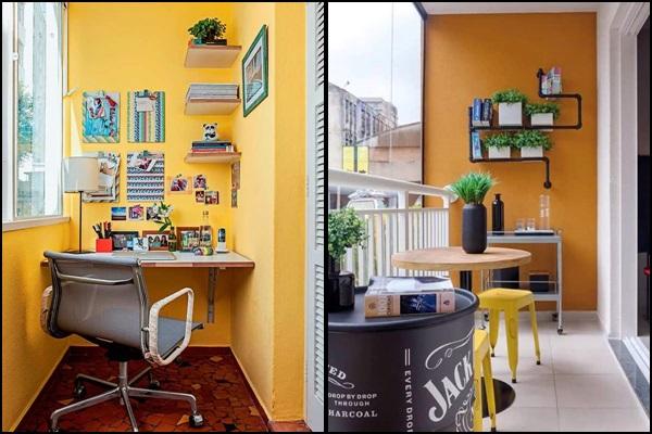 Varanda escritorio e varanda integrada
