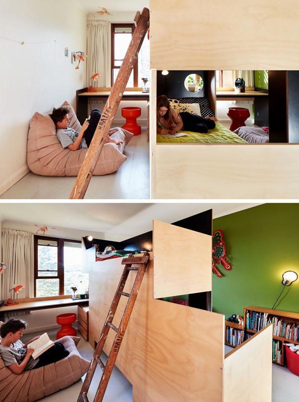 quarto para 2 crianças cama beliche diferente 2