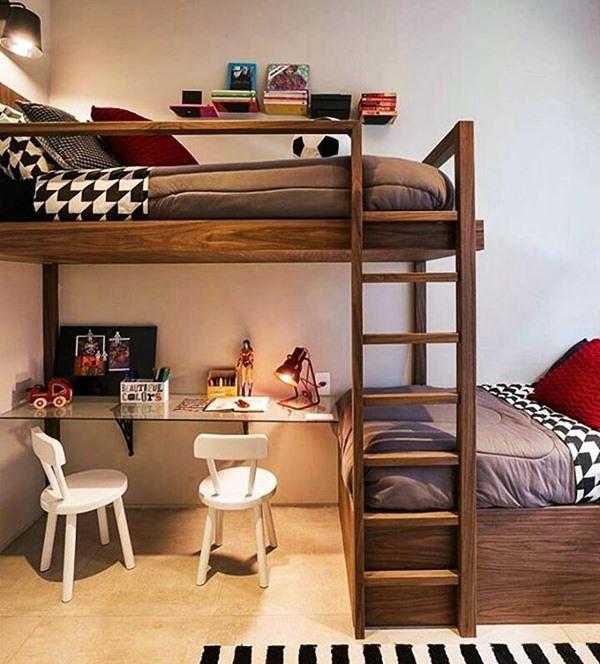 quarto para 2 crianças cama beliche diferente