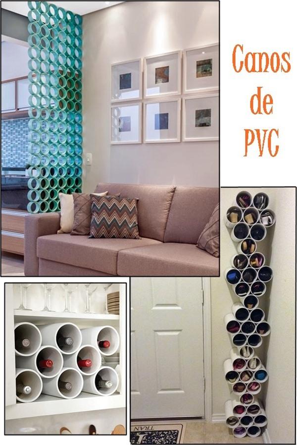decorar com materiais baratos canos de pvc