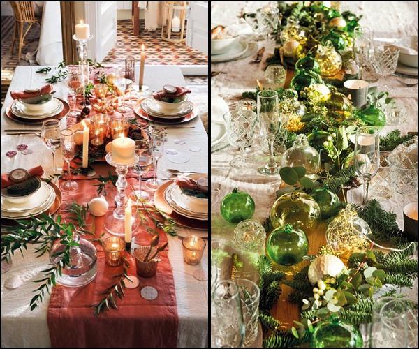 decoração natal mesa