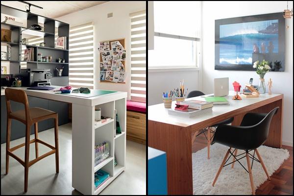 escritório pequeno em apartamento