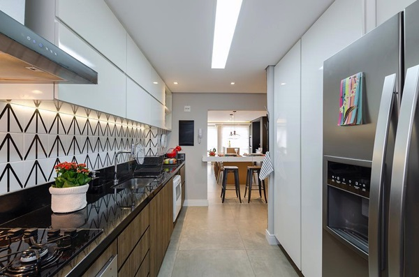 iluminação da cozinha - central e focal
