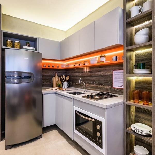 iluminação da cozinha - foco