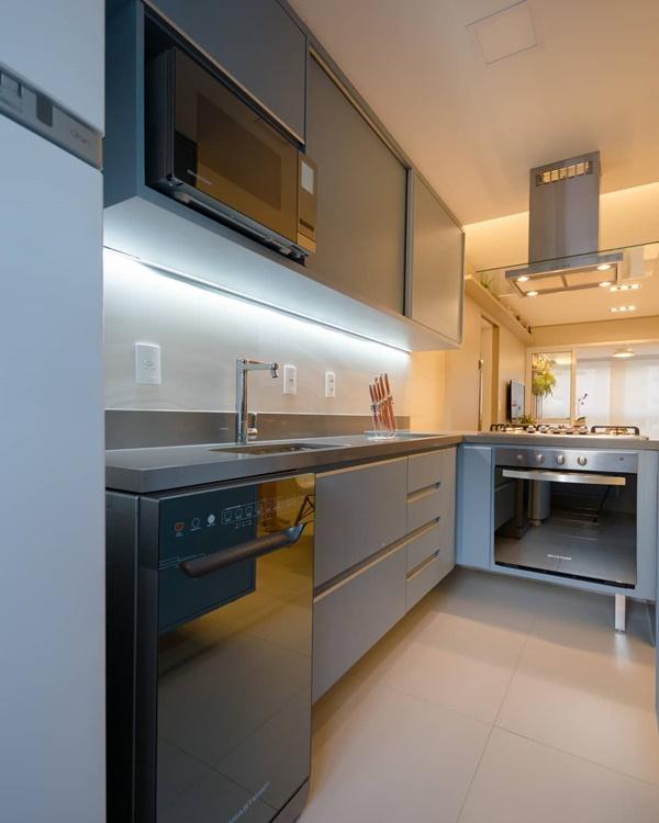 iluminação da cozinha - temperaturas diferentes