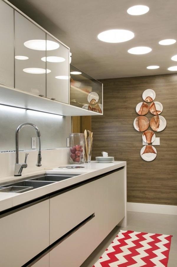 iluminação da cozinha reflexos