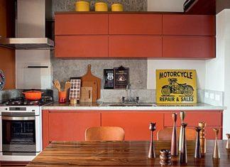 cozinha em vermelho