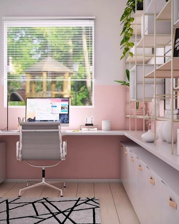 home office de frente para janela
