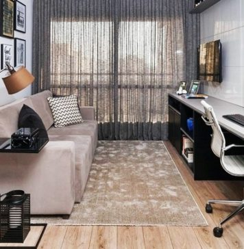 home office na sala de estar