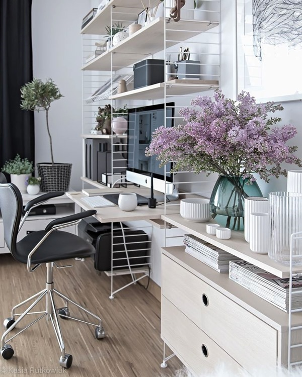 home office na sala industrial