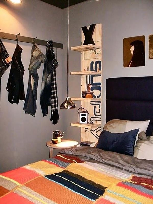 quarto pequeno pendurar roupas