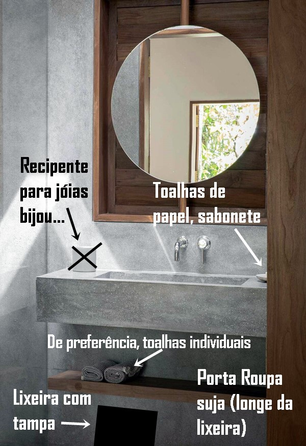 casa organizada banheiro para enfrentar o coronavirus