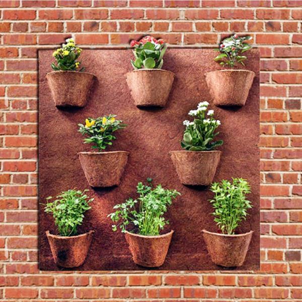 Vasos para plantas de fibra de coco