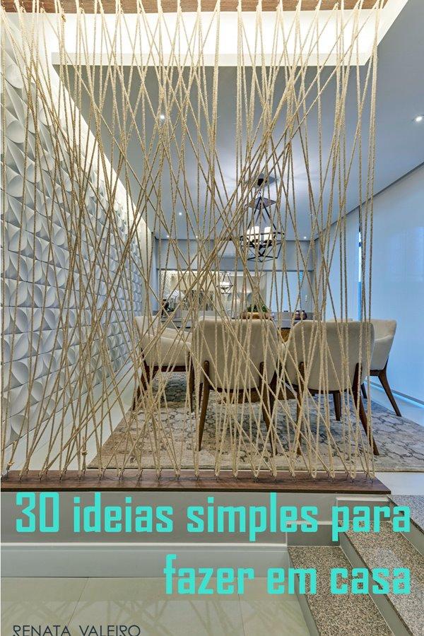 ideias que você pode fazer com o que tem - reutilizando cordas