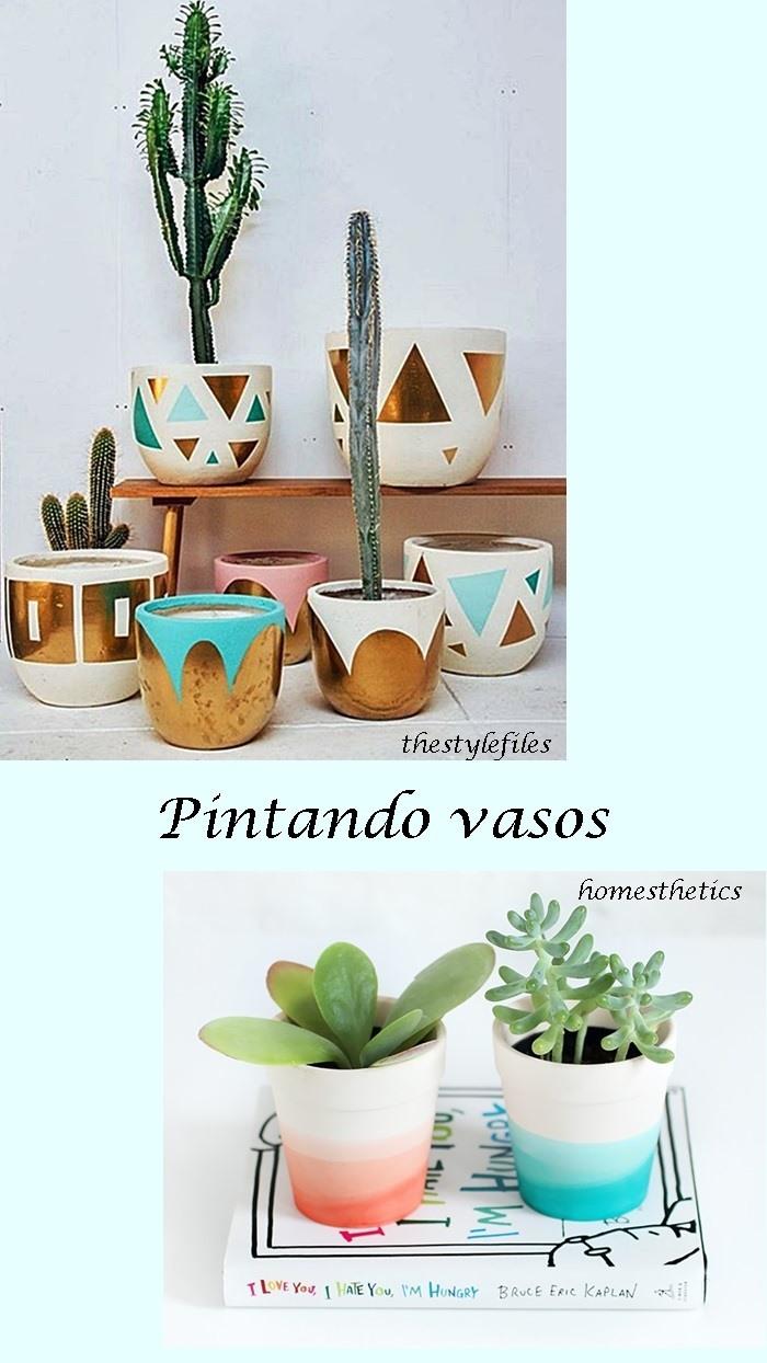 pintura em vasos de plantas
