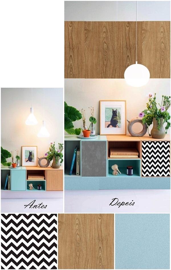 papel contact na decoração