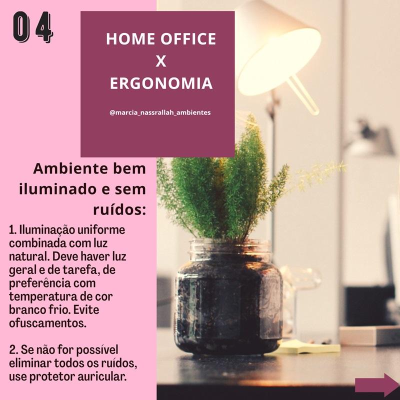 home office iluminação e ruídos