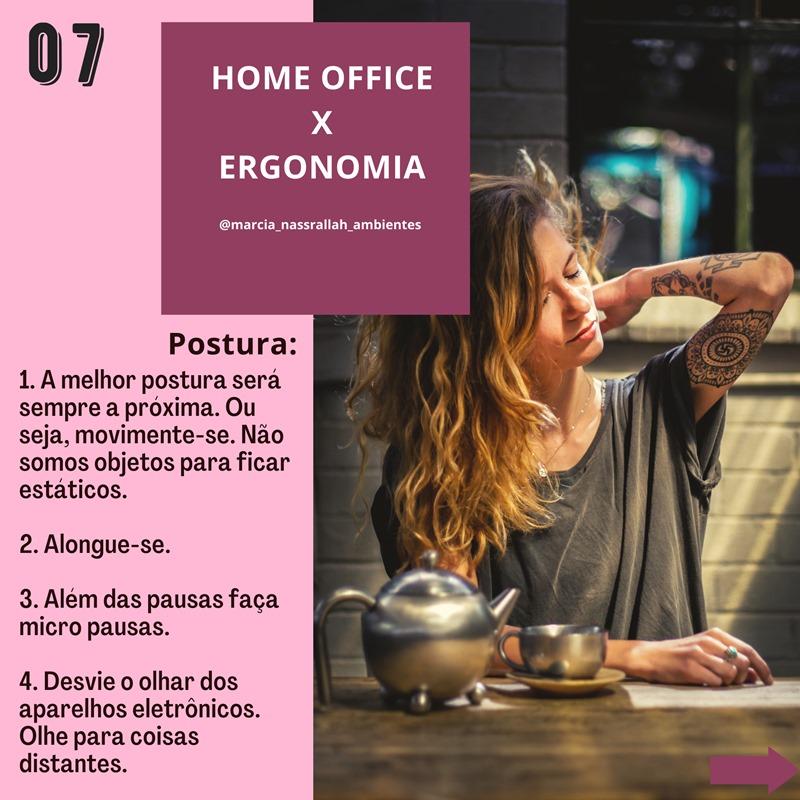 home office e a postura