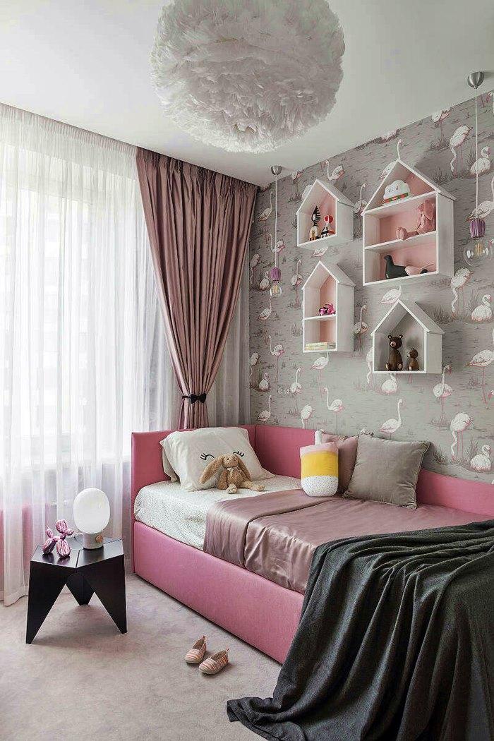 quarto de criança em rosa