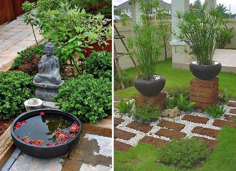 água no jardim
