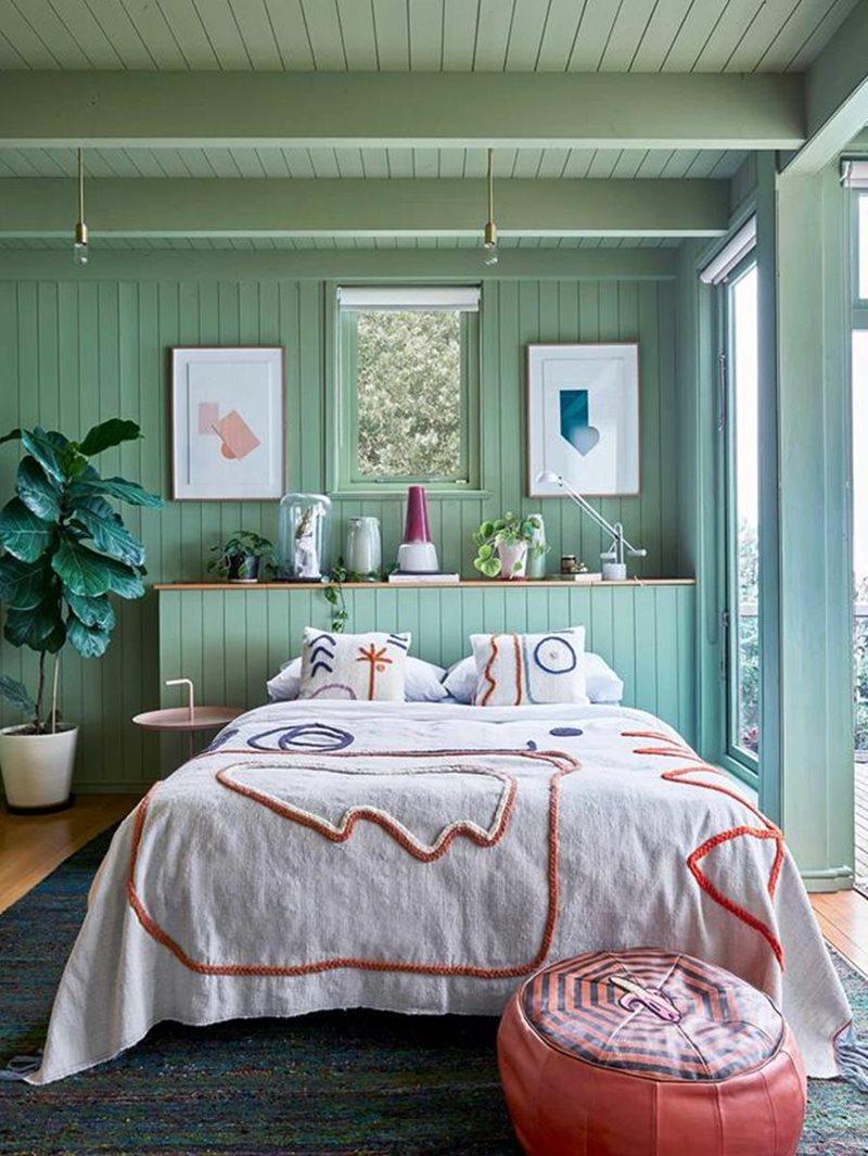 verde é uma ótima cor para quartos