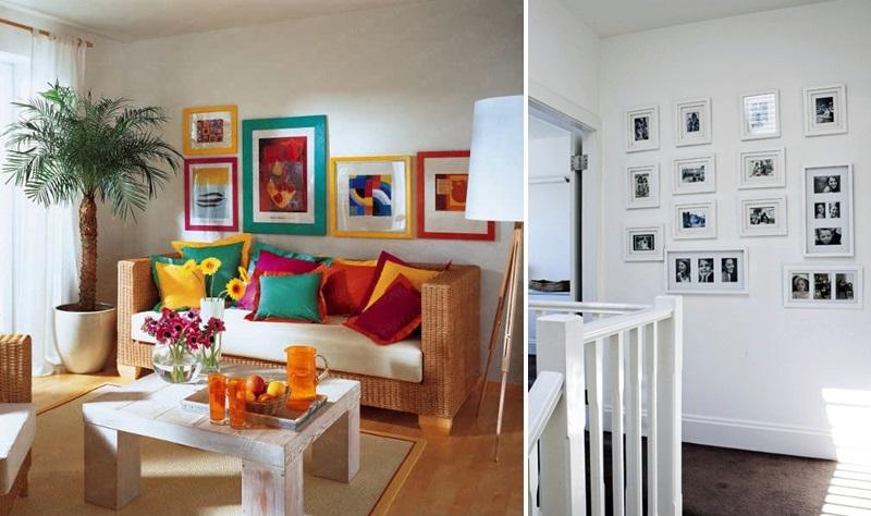 erro - contraste entre quadros e paredes