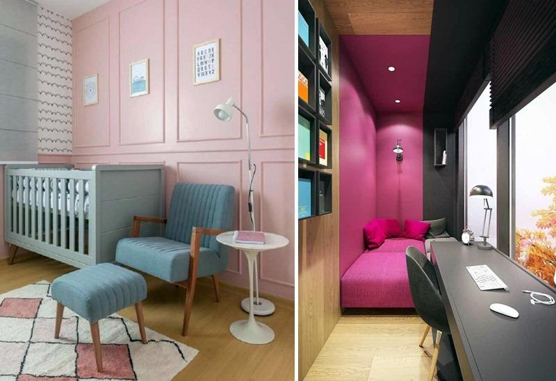 a versatilidade da cor rosa na decoração